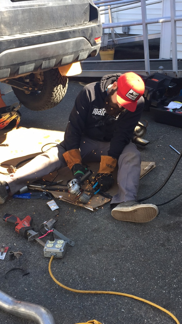 Jake hacking his 2005 Subaru Forester.