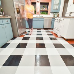Kitchen Vinyl Cabinets St Petersburg A Diy Transformation Using Floor Tiles Video The Gold Hive Tutorial