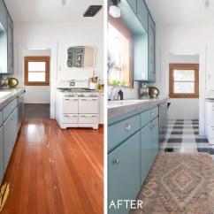 Kitchen Vinyl Red Cherry Cabinets A Diy Transformation Using Floor Tiles Video Tutorial