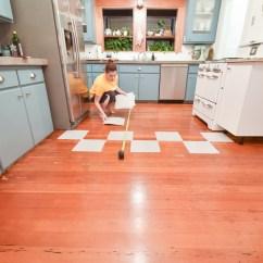 Kitchen Vinyl Flooring Aid Coffee Grinder A Diy Transformation Using Floor Tiles Video The Gold Hive Tutorial