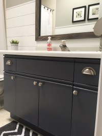 Bathroom Update + How to Paint Laminate Cabinets  The ...