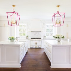Gold Kitchen Lighting In The White And Pink Of Our Dreams Libby Living Colorfully