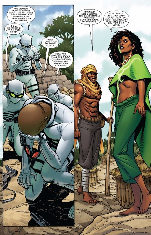 Tetu and Zenzi come to the aid of the Midnight Angels and the Dora Milaje