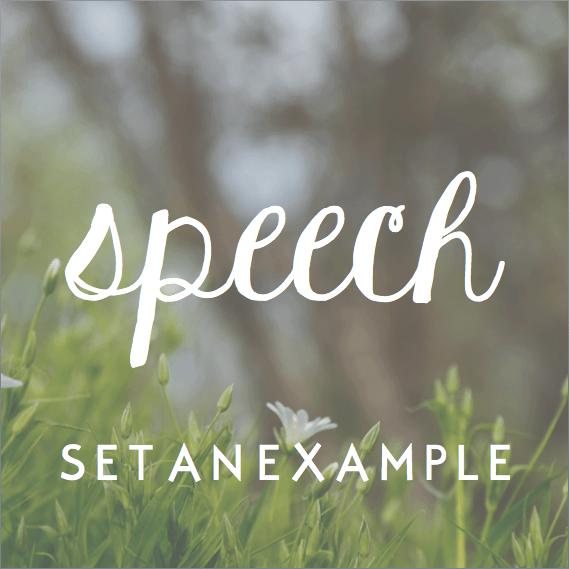 Setting An Example: Speech — More Precious