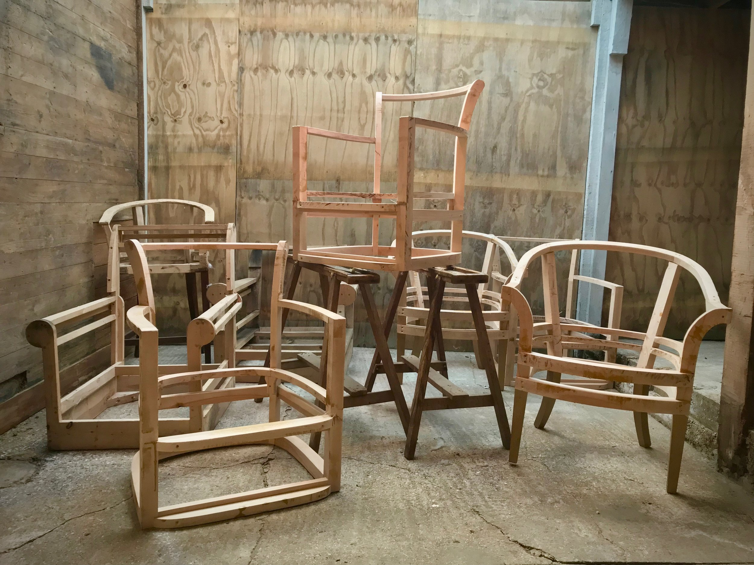 wooden chair frames for upholstery uk pushchair accessories bespoke furniture phoenix bedford example 2 beech
