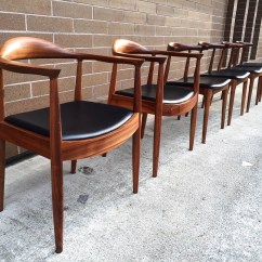 Mid Century Dining Chairs Surf Gear Beach Hans Wegner Styled And Mod Image1 Jpg
