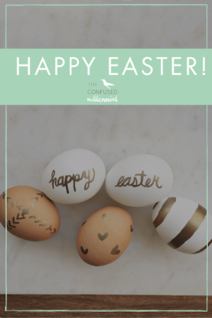Super simple gold DIY easter eggs. Head over to the blog to see the festive easter eggs. How do you celebrate easter?