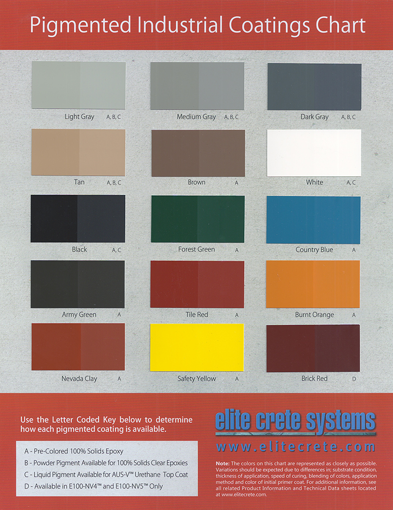 Pigmented epoxy color chartg also charts  concrete expressions rh concreteexpressionspei