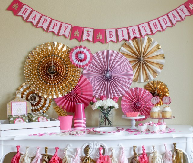 Pretty Pink Princess Birthday Party In A Pinch
