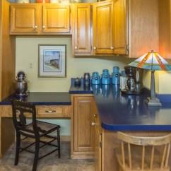Kitchen Desk Glass Tile Backsplash Rooms Vermont Country Home Area Plus More Oak Cabinets Counter Space