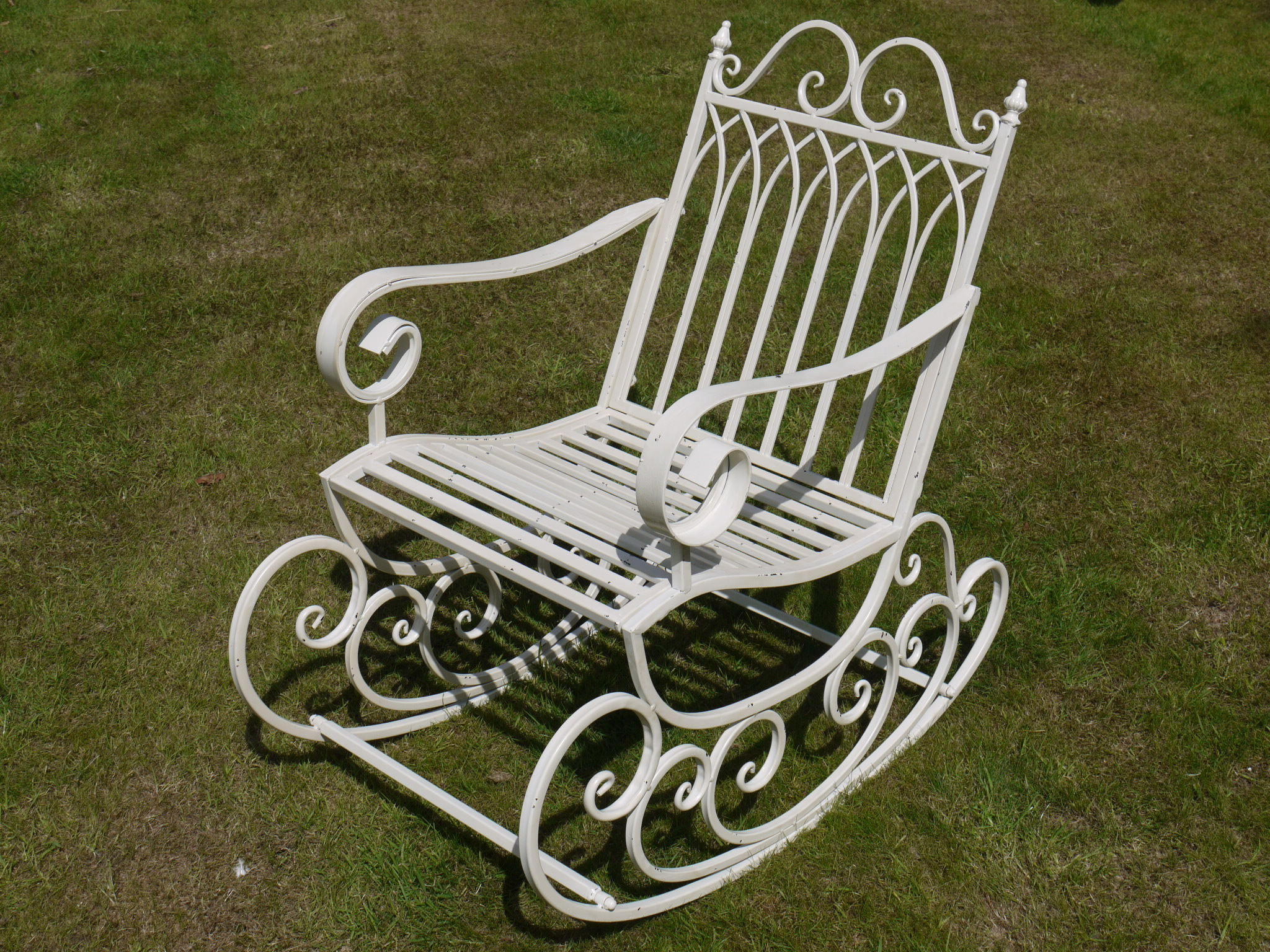 wrought iron rocking chair lightweight beach garden jpg