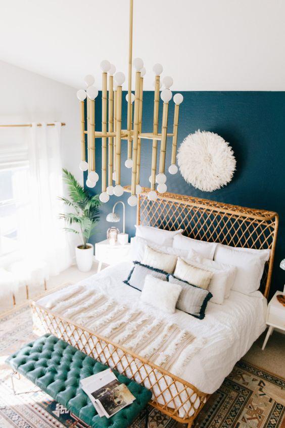 Dark Turquoise Boho Bedroom Inspiration  S T U D I O  G A S P O