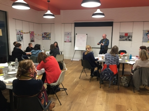 Andrew leading an Everyday Magic workshop last Autumn at The Hive