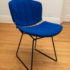 Bertoia Wire Chair Original Cover Rentals Montgomery Al Harry Knoll Side Chairs Hudson Home And Garden With Full Seat Pad