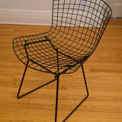Bertoia Wire Chair Original Walking Stick Singapore Harry Knoll Side Chairs Hudson Home And Garden Without Pad