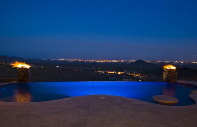Infinity Edge Swimming Pool Designs  Presidential Pools Spas  Patio of Arizona