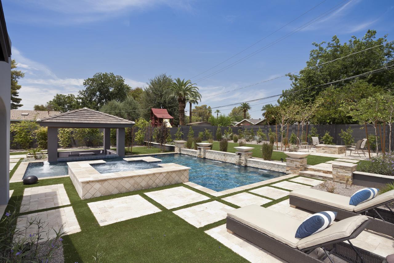 Geometric Swimming Pool Designs  Presidential Pools Spas  Patio of Arizona