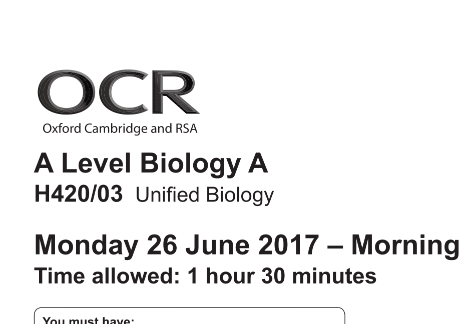 Answer A-level Biology Questions Better — A-level Biology