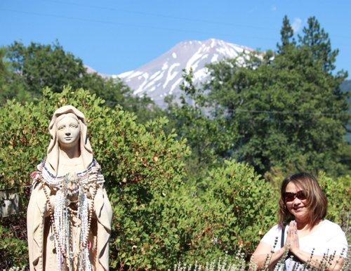 The Mother Mary and Kwan Yin Garden   Mt. Shasta, CA, USA