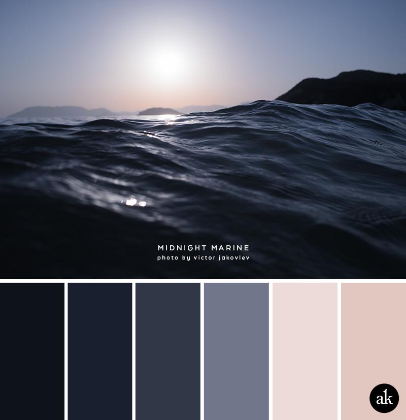 Fall Minimalist Wallpaper A Sea Inspired Color Palette Akula Kreative