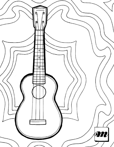 Free Printable: Ukulele Coloring Page — Musical Mama