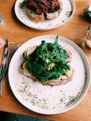 Jerusalem artichoke hummus toast