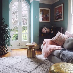 Decorating My Living Room Ideas For With Cream Leather Sofa Before After Blue Melanie Lissack Dix Farrow Ball Jpg