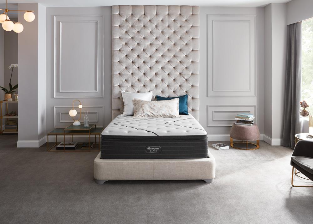 beautyrest black l class plush pillow top the sleep shoppe