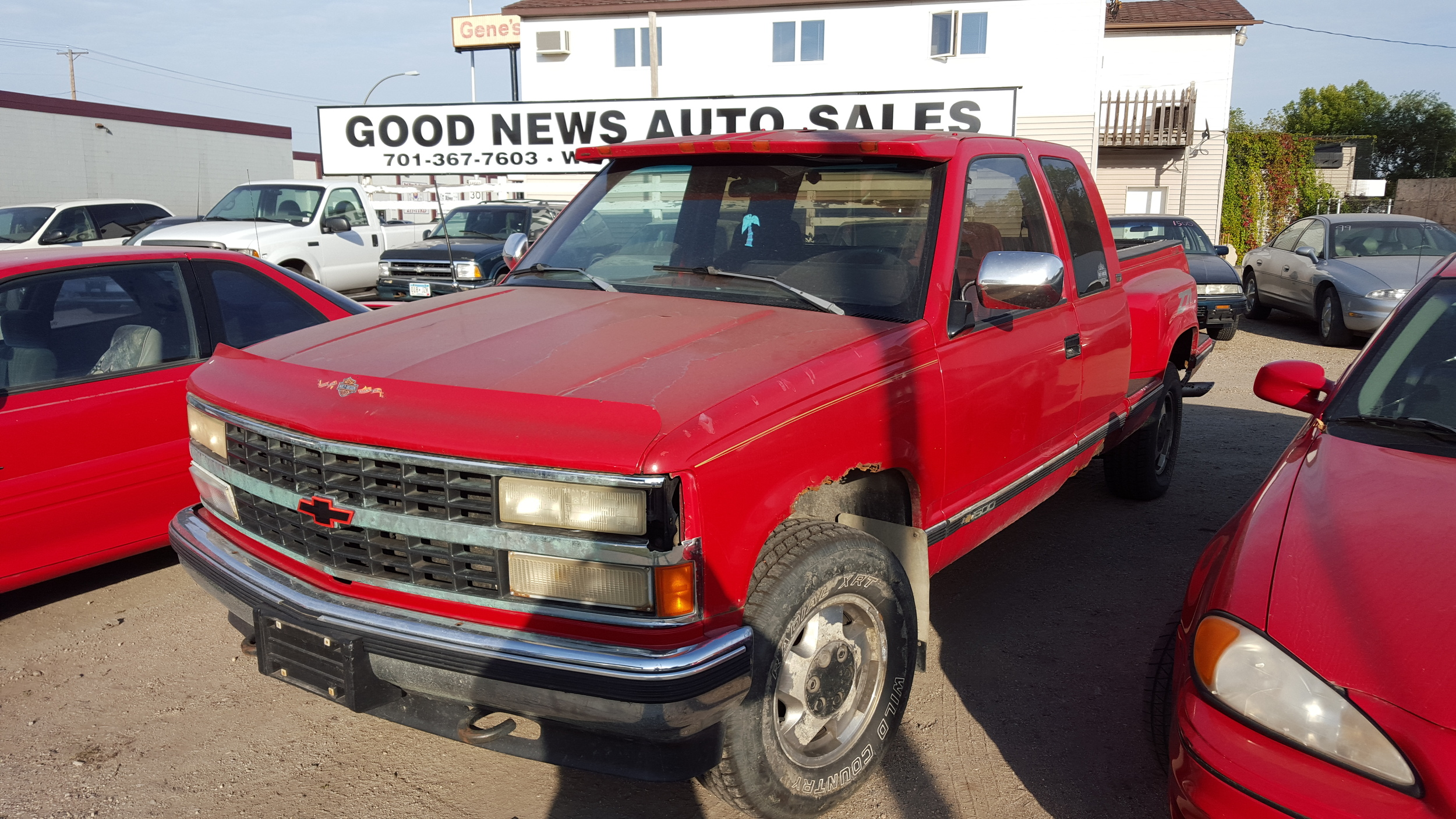 1992 chevy k1500 ext cab stepside bed 174k miles pw pl cd 4x4 asking 900 firm [ 2500 x 1406 Pixel ]