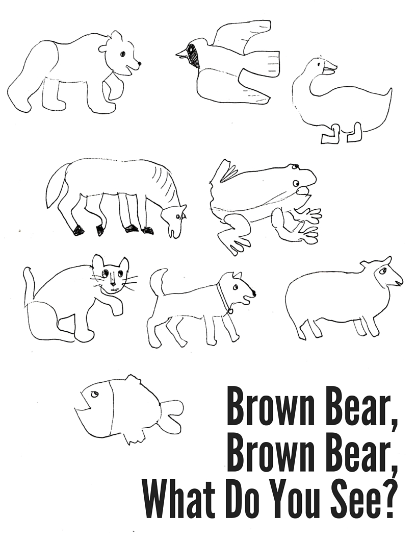 Brown Bear, Brown Bear Coloring Sheet — Mostly Montessori