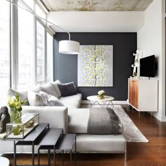 Furniture Placement For Long Narrow Living Room Home Decorating Ideas Curtains How To Arrange In A Ambiance The Floating Chaise Of This Sectional Helps Visually Divide
