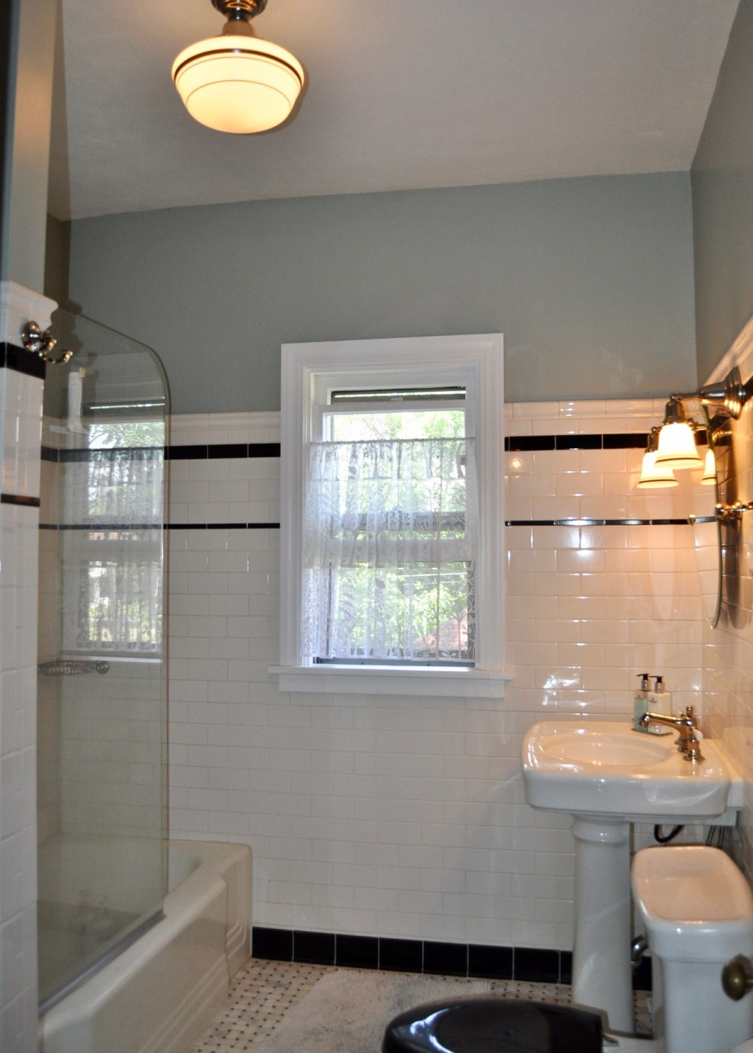 Renovated bathroom with 1920's finishes