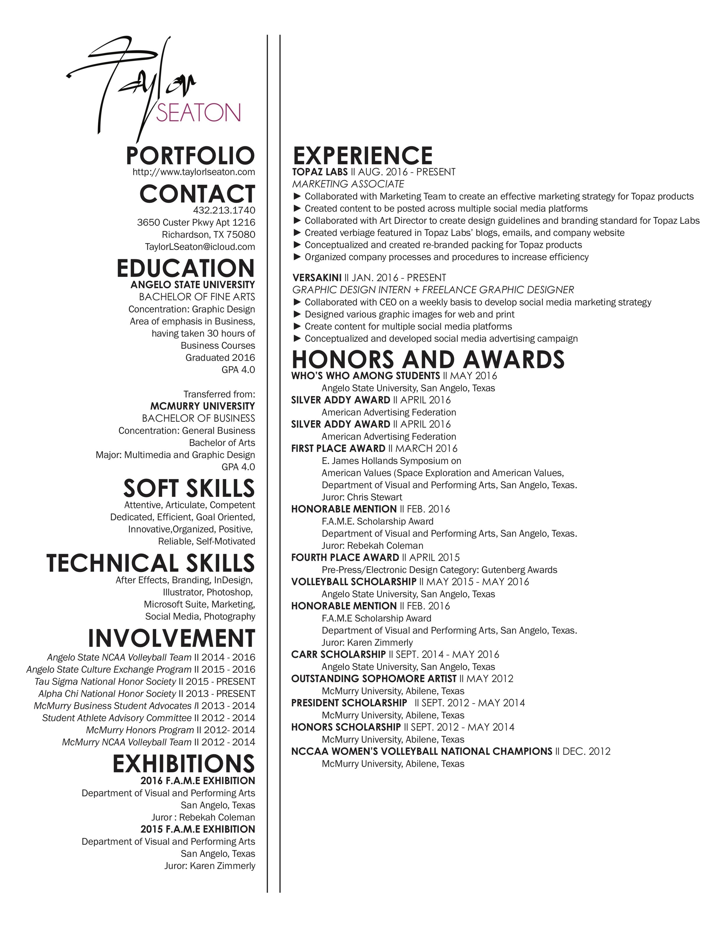 updated resume examples 2014 updated resume resume taylor seaton