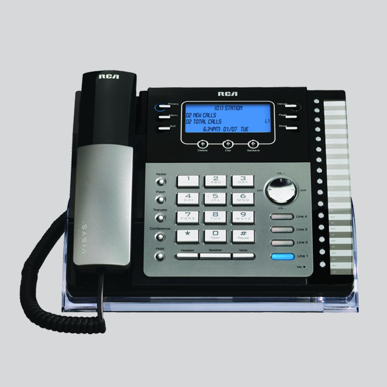 medium resolution of 4 line small business system desk phone
