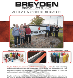 breyden products achieves as9100d certification [ 967 x 1200 Pixel ]