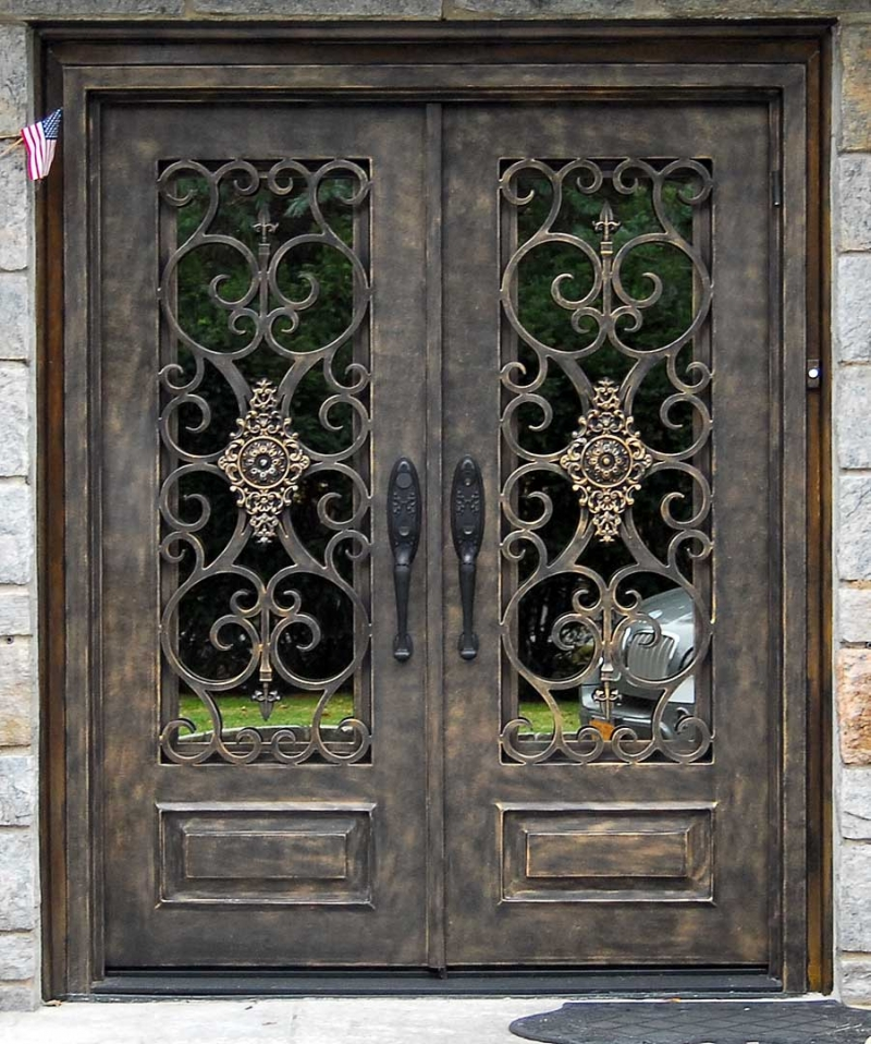 DOUBLE DOORS  Manhattan Iron Doors Co