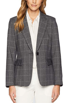 Tahari Plaid Jacket