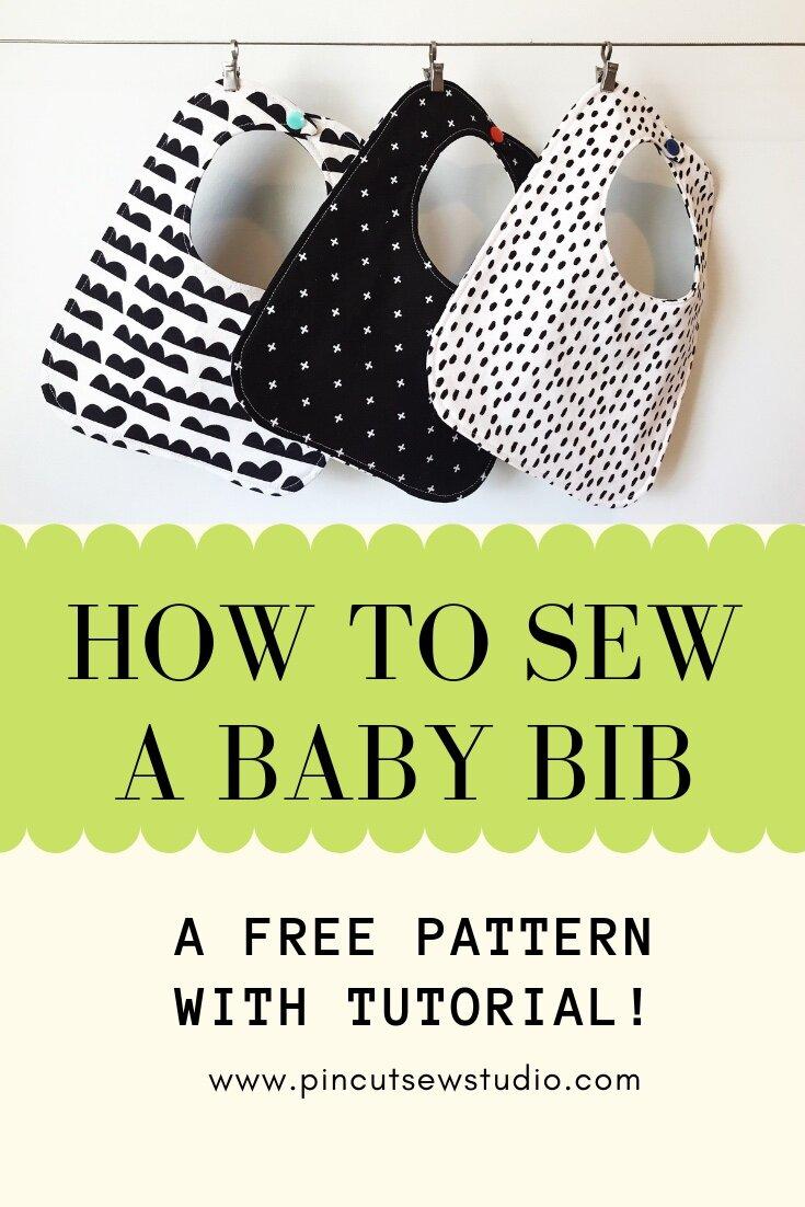 Free Baby Bib Pattern Pdf : pattern, Beginner, Friendly, Tutorial,, Pattern!, Studio