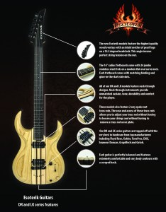 The high end tonewoods for each guitar have been precisely chosen to provide optimum weight strength balance aesthetics feel and tone also esoterik guitars  why choose rh esoterikguitars