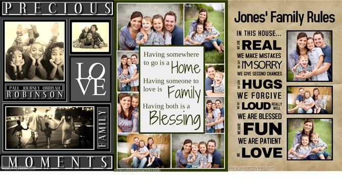Create New Year Family Collages With PosterMyWall