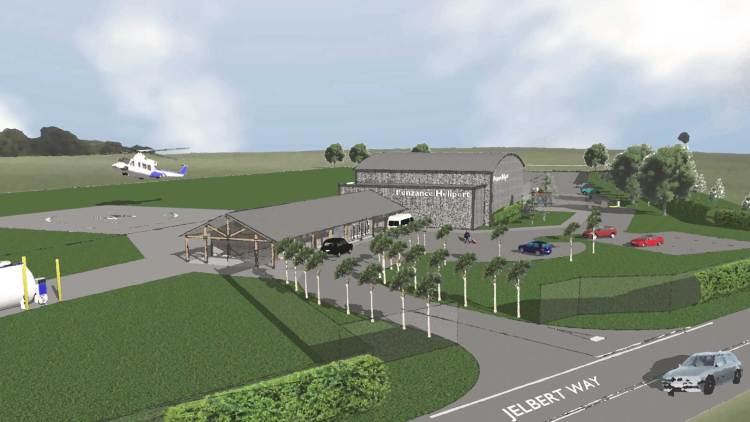 Artistic impression of the planned heliport in Penzance.