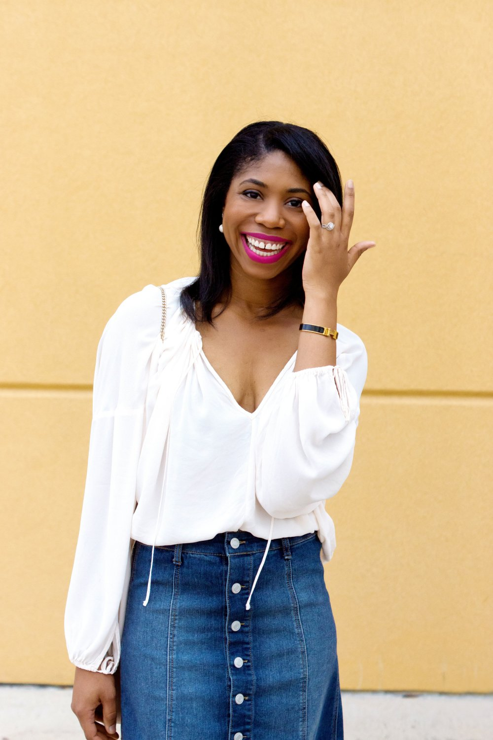 how to style a denim skirt dallas fashion blogger stephanie taylor jackson