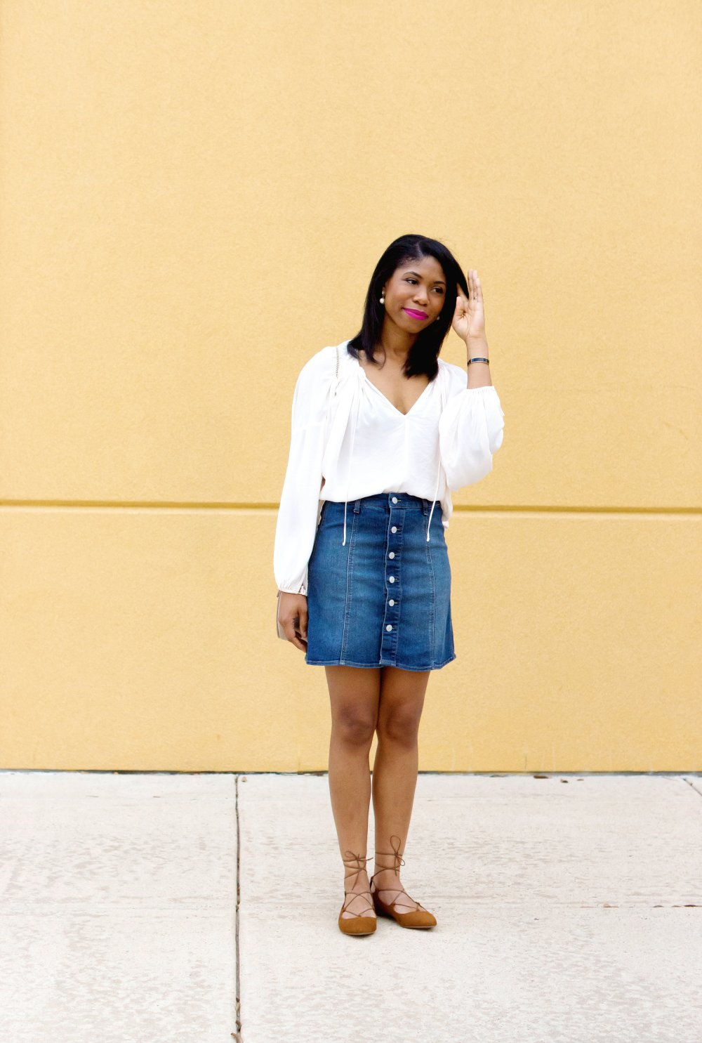 denim skirt style dallas fashion blogger stephanie taylor jackson