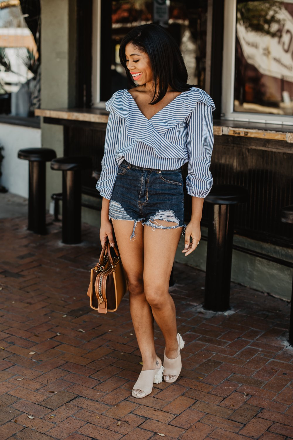 sanctuary clothing dallas fashion blogger denim shorts plv shoes stephanie taylor jackson