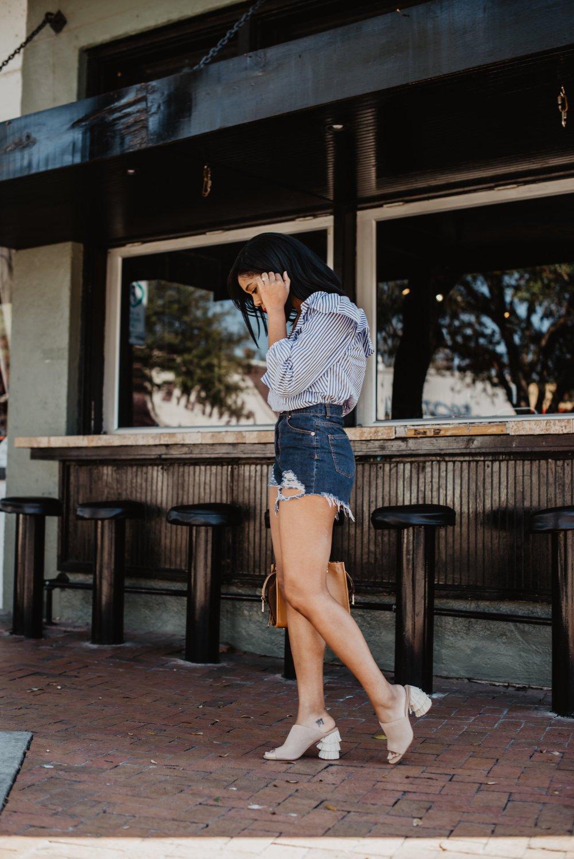 summer fashion dallas blogger style denim shorts nordstrom