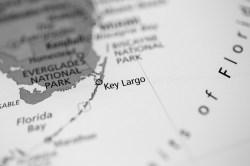 Largo Fl Elevation Map.Dark Key Largo Florida Map Largo Sound Key Largo Florida Tide Chart