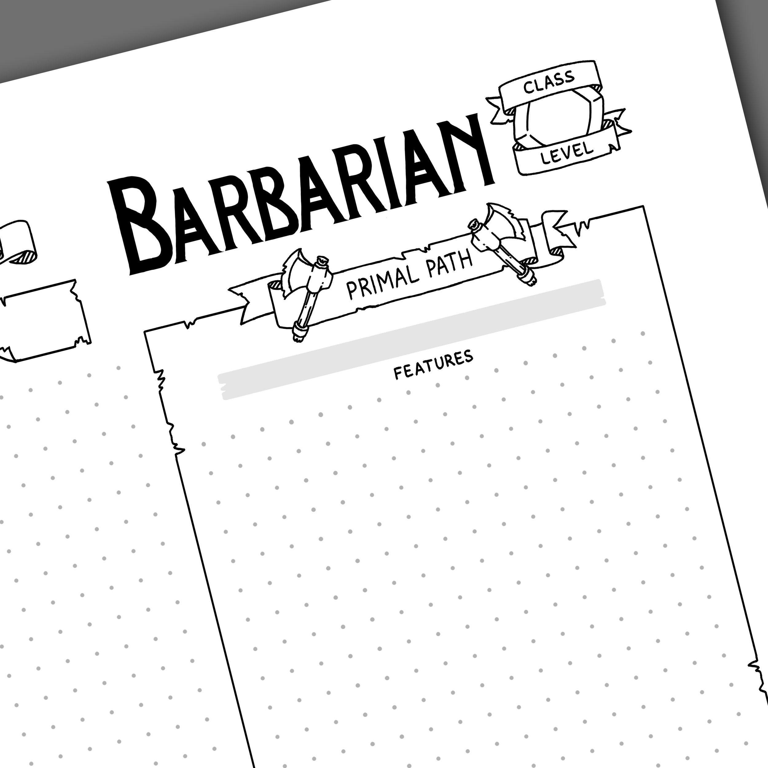 5th Edition Barbarian Character Sheet — Games & Stuff by