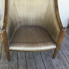 Barrel Back Chair Bath For Disabled Child Custom Upholstery Curio