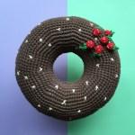 Cocobewey Crochet Donut Cushion Flamingpot