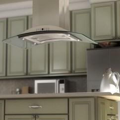 Island Kitchen Hood Eat In Table Stainless Glass Gl9i Zline Steel Range
